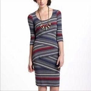 Anthropologie Bailey 44 Striped Column Dress